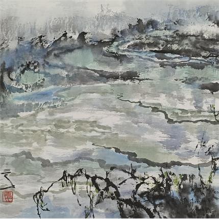 Sanqian jiu zhai gou valley 19 x 19 cm