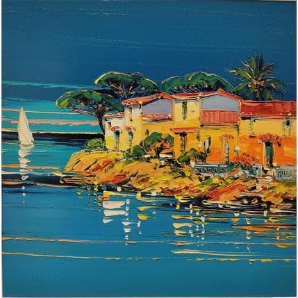 Liisa Corbière Petit port au Cap Corse 36 x 36 cm