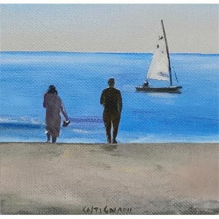 Sergi Castignani Sea shore 5 13 x 13 cm