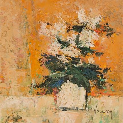 Catherine Vaudron Un petit cyclamen, petite fleur d'hiver toujours là 13 x 13 cm