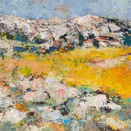 Catherine Vaudron Les roches à Maussane 19 x 19 cm