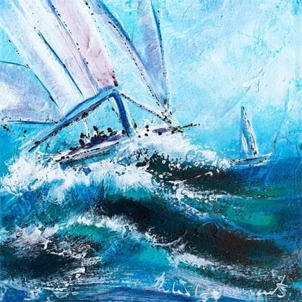 Nicole Ortis-Bommarito La mer se lève 19 x 19 cm