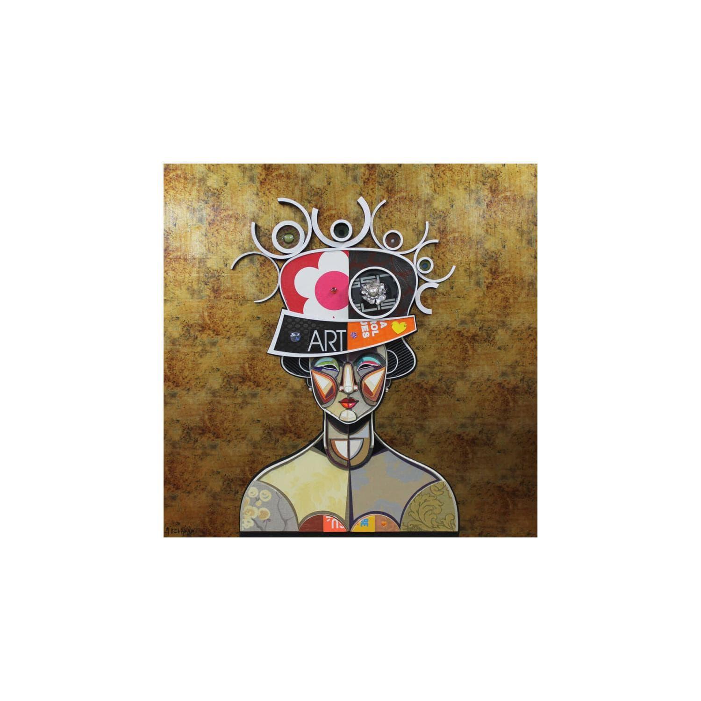 Peintures Grand Format Femme Avec Chapeau Par Abelardo Hernandez Carre D Artistes