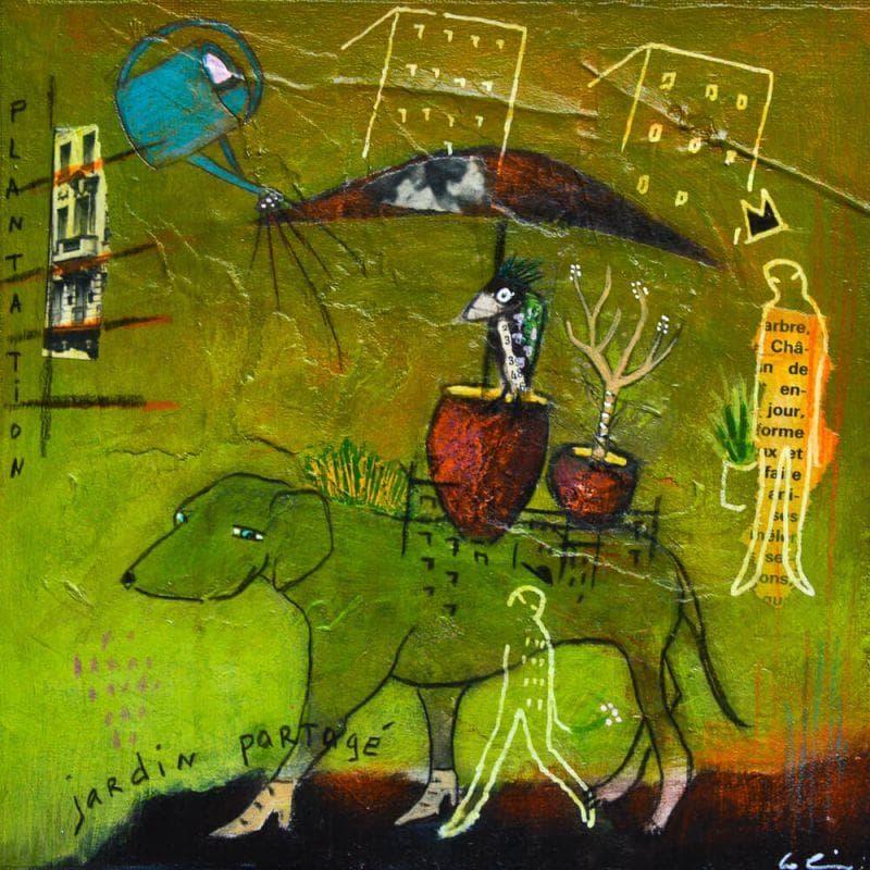 Small paintings Jardin partagé by Sylvie Colin - Carré d ...
