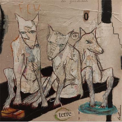 Sylvie Colin Les gardiens 25 x 25 cm