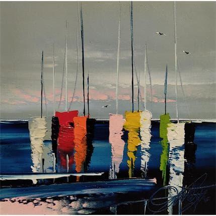 David Fonteyne COUCHER DU SOLEIL 25 x 25 cm