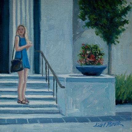 Karl Bronk Girl in Blue 13 x 13 cm