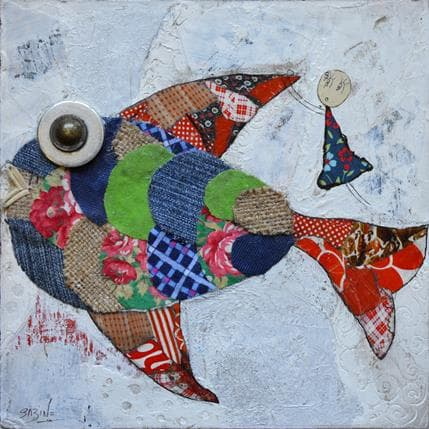 Sabine Bourdet Fish and me 19 x 19 cm