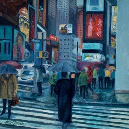 Karl Bronk Crowded City Crosswalk 19 x 19 cm