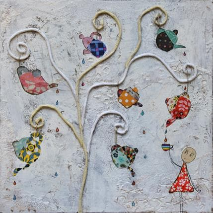 Sabine Bourdet Five o'clock 19 x 19 cm