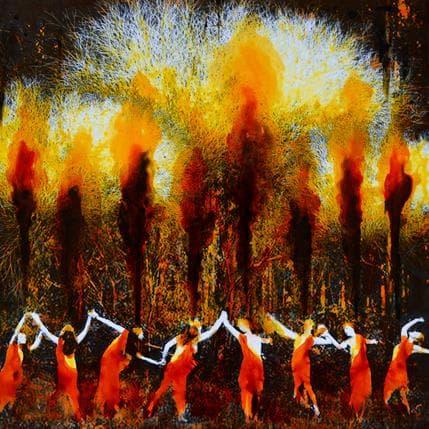 Félix Aberasturi La danse des Shallons du Sud 36 x 36 cm