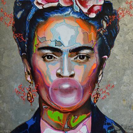 Medeya Lemdiya Frida et sa Bulle 25 x 25 cm