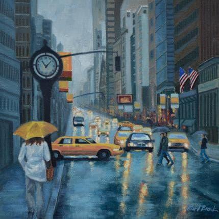 Karl Bronk Rain in NYC 25 x 25 cm
