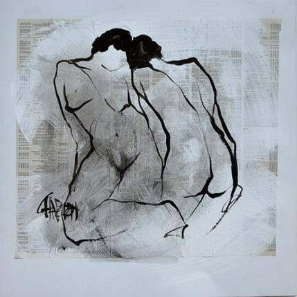 Martine Chaperon Couple 1 36 x 36 cm