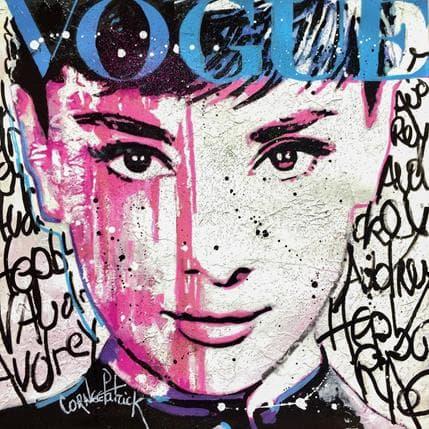 Patrick Cornée Audrey Hepburn vogue blue version 25 x 25 cm