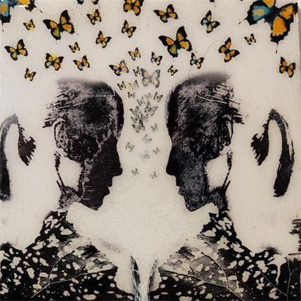 Laura Bofill Ellas con mariposas 13 x 13 cm