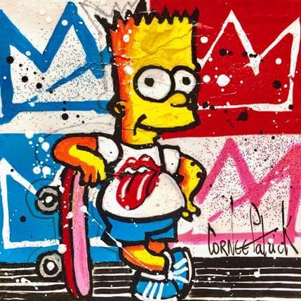 Patrick Cornée Bart aime les rolling stones 13 x 13 cm