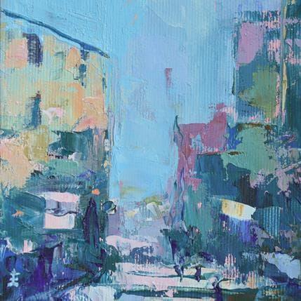 Jean David The village 13 x 13 cm