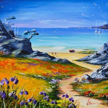 Vitoria Balades sur la plage 36 x 36 cm