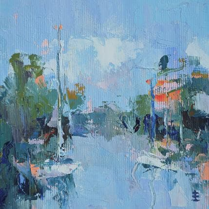 Jean David The port 13 x 13 cm