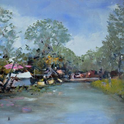 Jean David Cafe on the lake 36 x 36 cm