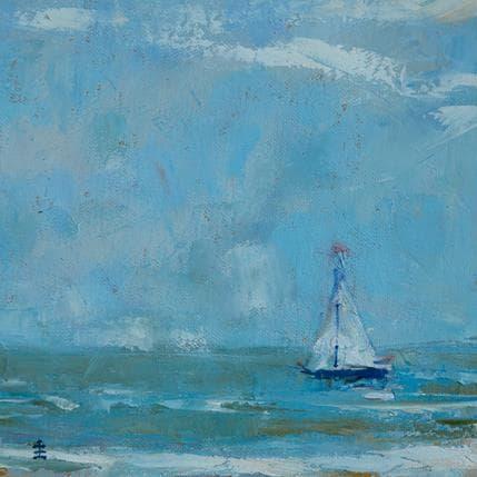 Jean David Noorwijk sailing 19 x 19 cm