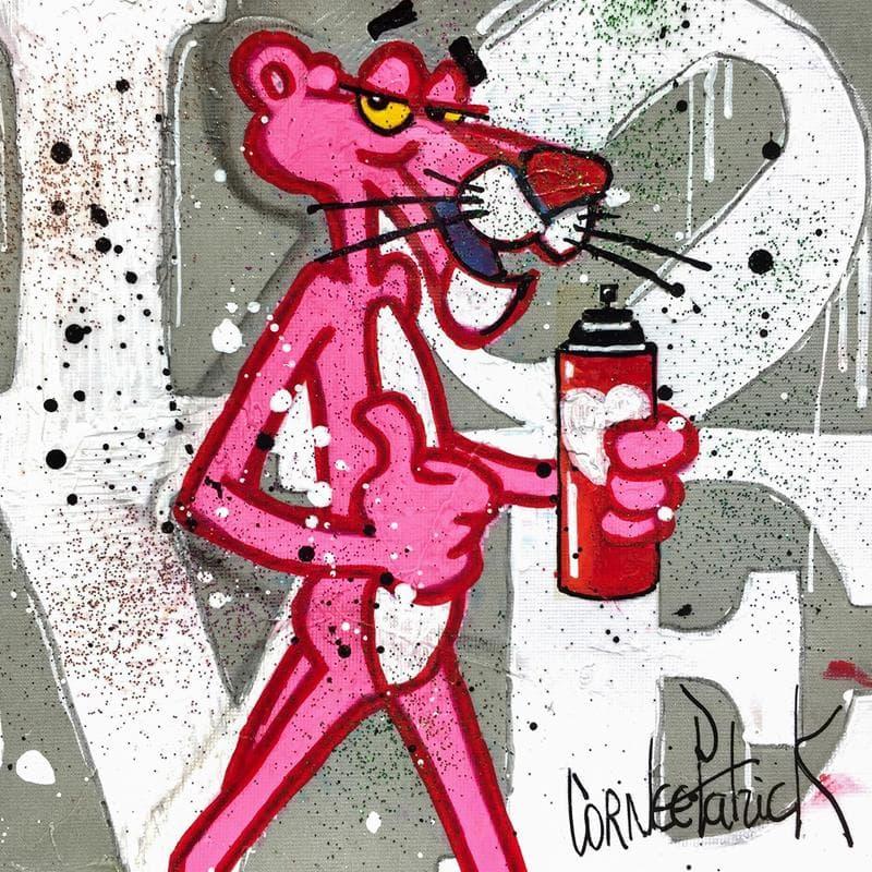 Pink panthere love street art grey version