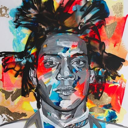 Nathalie Cubero Basquiat 72D 36 x 36 cm