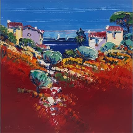 Liisa Corbière Paysage rouge 19 x 19 cm