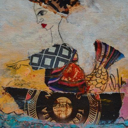 Valérie Depadova Une sirène en bateau 13 x 13 cm