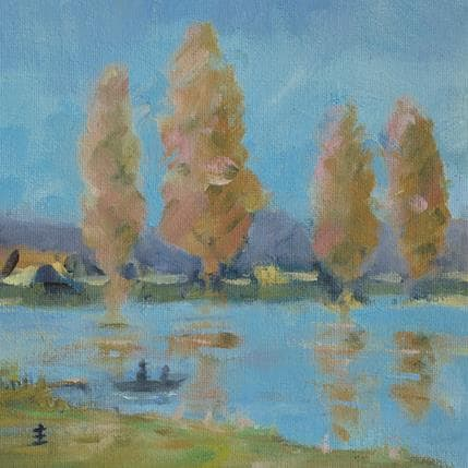 Jean David Poplars on the Vendee 19 x 19 cm