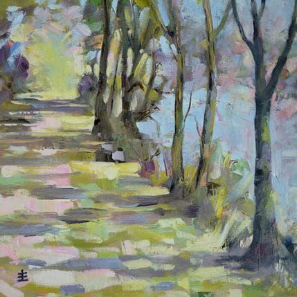 Jean David Riverside walk 36 x 36 cm