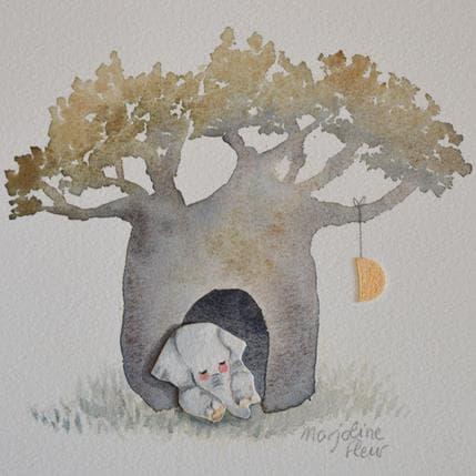 Marjoline Fleur Elephanteau 13 x 13 cm