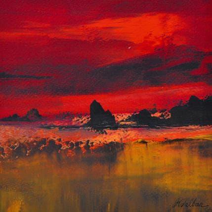 Dalban Rose Nuit rouge 19 x 19 cm