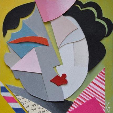 Karl Gustavsen Cubist Head 13 x 13 cm