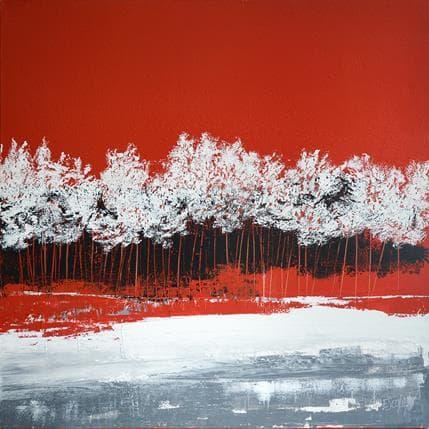 Odile Escolier Parmi les arbres, la lumière 100 x 100 cm
