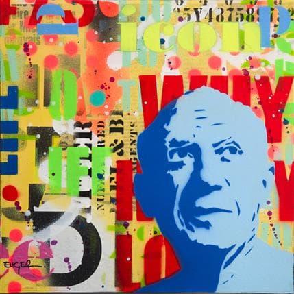 Philippe Euger Blue Pablo 25 x 25 cm
