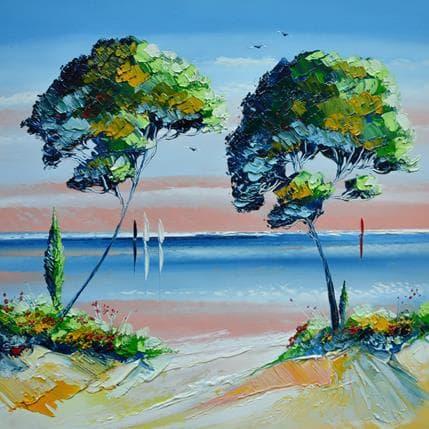 David Fonteyne Les deux arbres de vie 36 x 36 cm