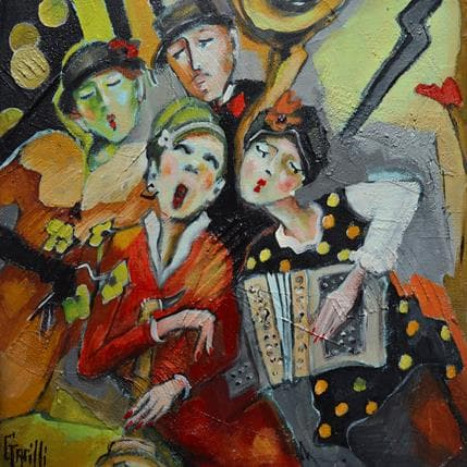 Nicole Garilli Un bouquet, quelques notes et .. 25 x 25 cm