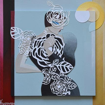 Karl Gustavsen Flower Dress 25 x 25 cm