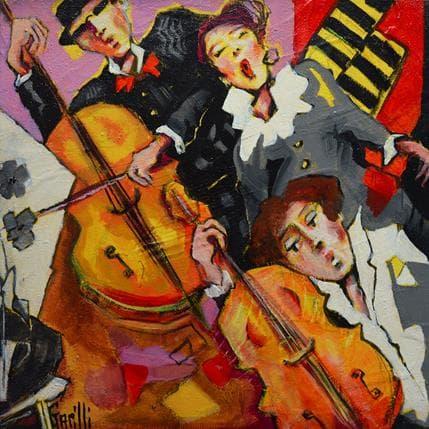Nicole Garilli Et volent les notes.. 25 x 25 cm