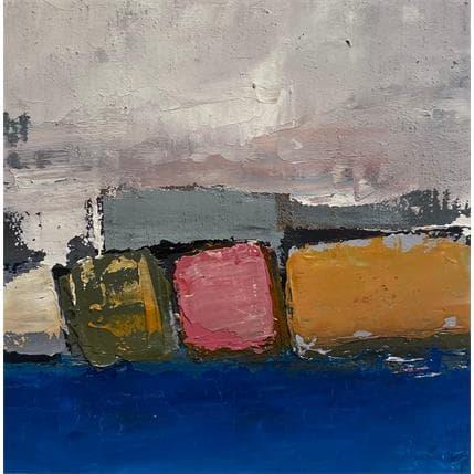 Philippe Hillenweck Falaises Gris Ciel 13 x 13 cm
