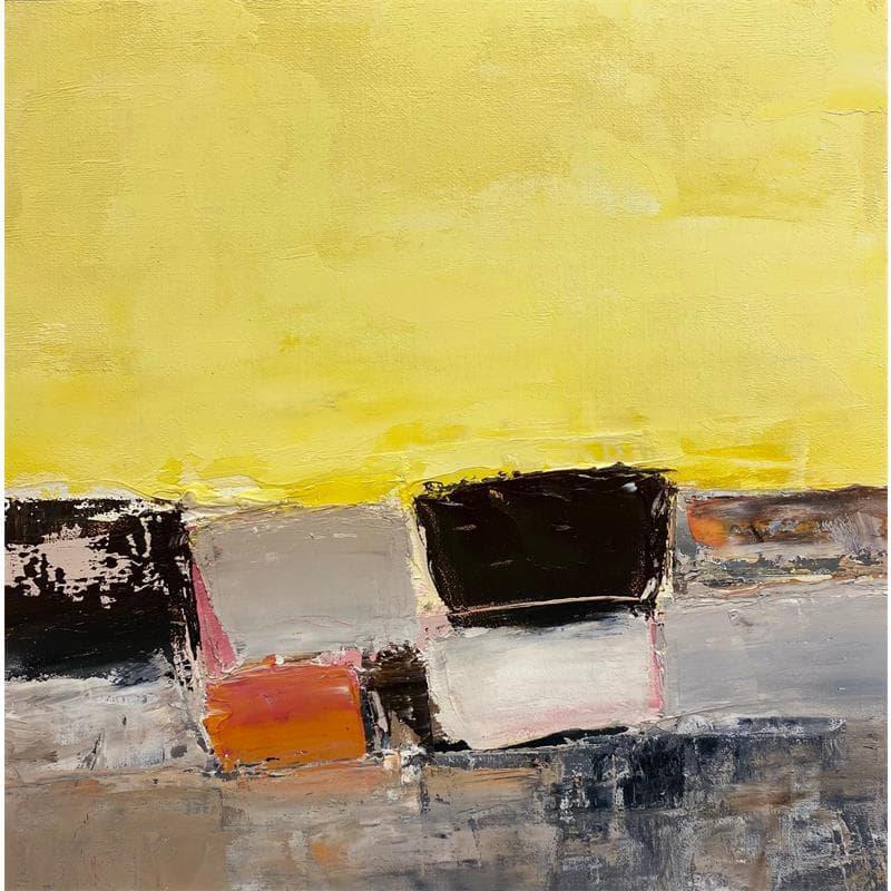 Bord de mer et ciel jaune