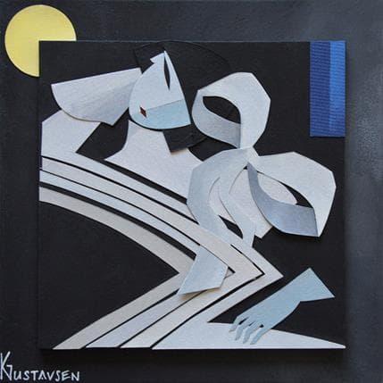 Karl Gustavsen Japanese dance 19 x 19 cm