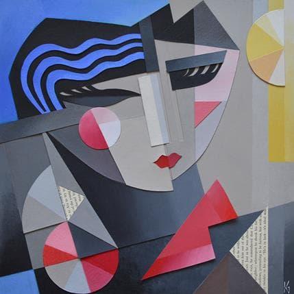 Karl Gustavsen Cubist Head 36 x 36 cm
