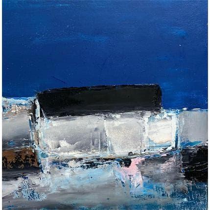 Philippe Hillenweck Strates & ciel bleu 25 x 25 cm