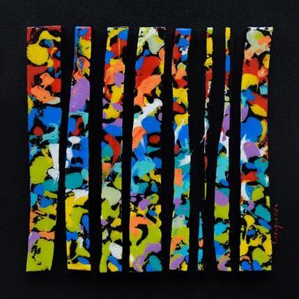 Luc Langeron Touche rouge bleu vert 19 x 19 cm