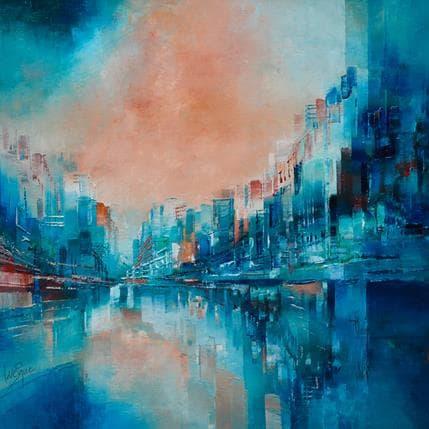 Emmanuelle Levesque Harmonie du soir 36 x 36 cm