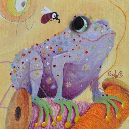 Raphaële Lennoz La grenouile violette 13 x 13 cm