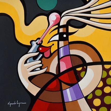 Alfredo Lopez La potache 25 x 25 cm